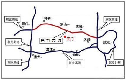 武汉市城市圈高速公路交通示意图